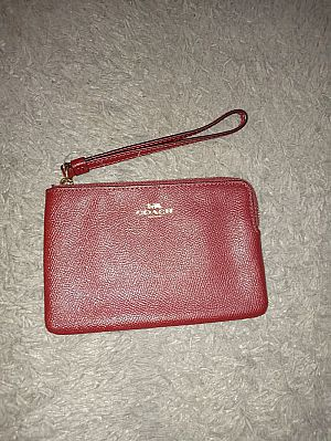 CLEARANCE SALE COACH SMALL WRISTLET IN CRIMSON F58032