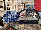 Kate Spade Sylvia see through dome cosmetic case blue multi WLRU5988